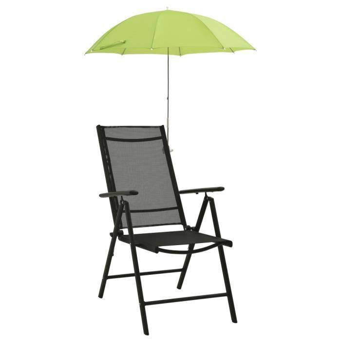 #56233 Parasols de chaise de camping 2 pcs Professionnel - Vert 105 cm Parfait