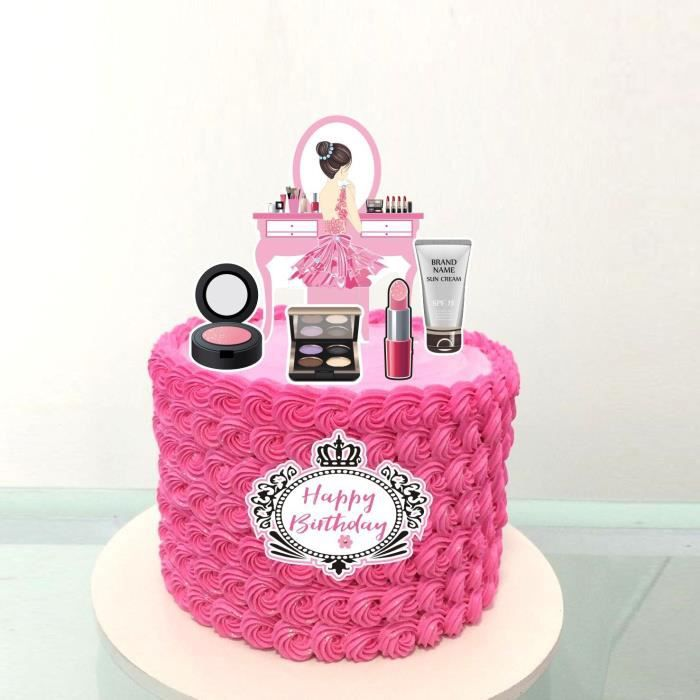 Décoration de gâteau à talons hauts pour fille, nouveau sac à lèvres, cosmétiques, fête d'anniversaire, parfum, [48E8FB9]