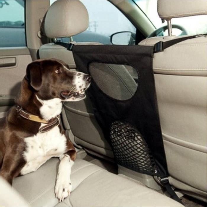 46*69cm Grille voiture chien, Filet Grille separation chien, Barriere pour chien voiture, Barre pare-chien Noir