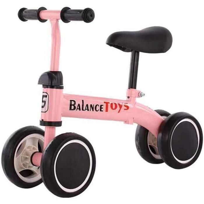 Draisienne Bébé-Vélo d'équilibre pour Bébé 2-8 Ans- Vélo Enfant sans Pédales Jouet Educatif Baby Walker 4 Roues- Premier Annive[709]
