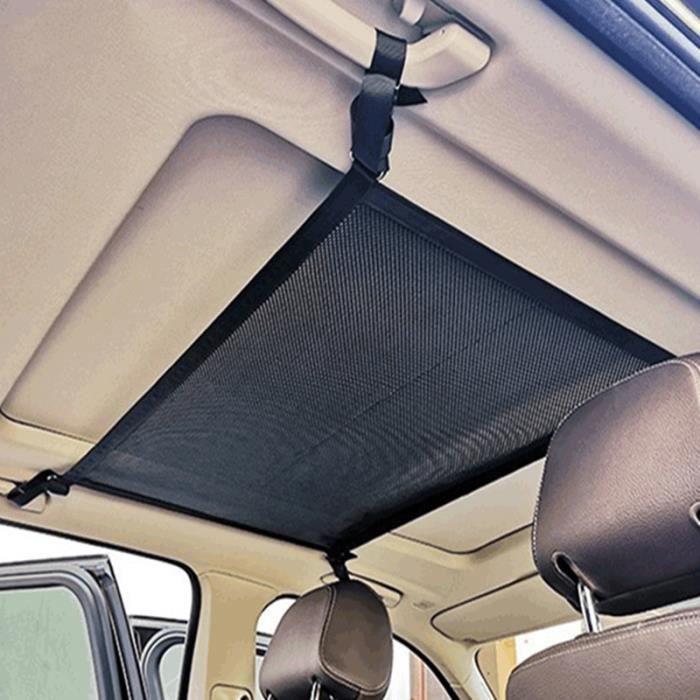 Filet de Rangement, filet de rangement sur le toit en maille double couche, poche pour filet à bagages de voiture 54 * 80cm