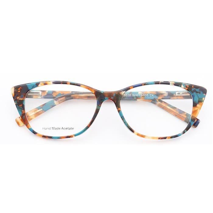 Montures de Lunettes de vue,Femmes Cateye montures de lunettes pour femmes rondes mode lunettes montures - Type Multi color c4