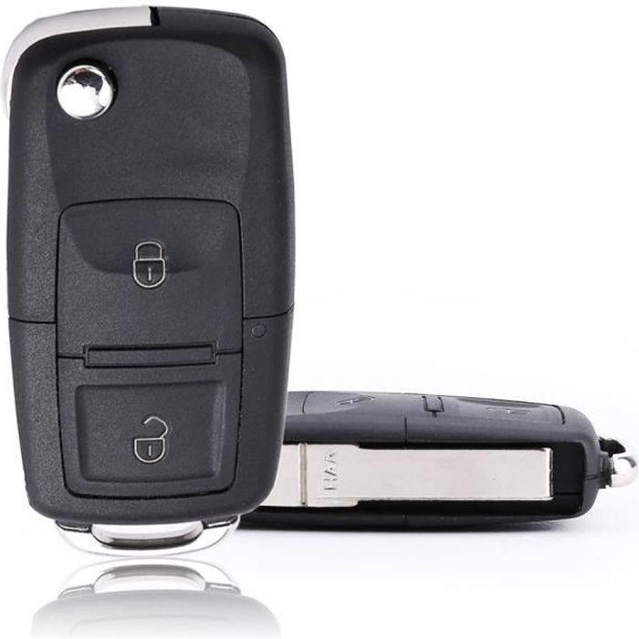 Coque CLE Pliable pour telecommande VW Volkswagen BORA POLO PASSAT SKODA