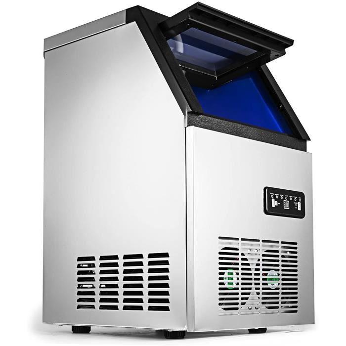 MACHINE A GLACONS SucceBuy 220V 60KG Machine A Gla&ccedilons Acier Inoxydable Machine A Glace Portable et Rapide (60KG)26