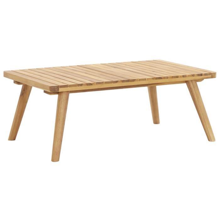 BEAU-Table basse d'Extérieur Table de jardin 90x55x35 cm Bois solide d'acacia3475