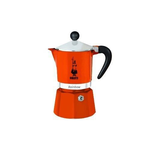 Bialetti Machine à Expresso pour 6 Tasses, Aluminium, Orange, 30 x 20 x 15 cm - 4993