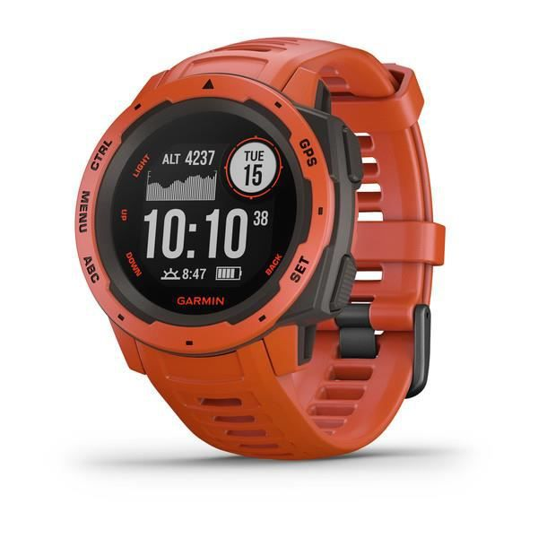 Garmin Instinct®- Montre GPS robuste - Rouge Feu