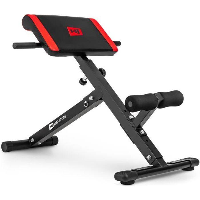 Banc de musculation Abdo Hyper-extension Hop-Sport HS-1016 Appareil de musculation abdominal 45°