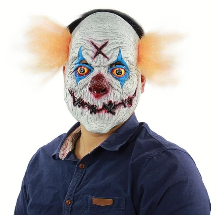 Nouveau Halloween Horreur Masque 2019 Clown Latex Masque Carnaval Fête Cosplay Accessoires Halloween Cosplay Costume Décor Accessoir