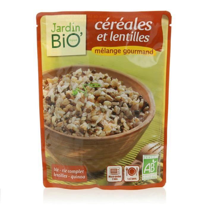 JARDIN BIO Mélange gourmand céréales et lentilles Bio - 250g