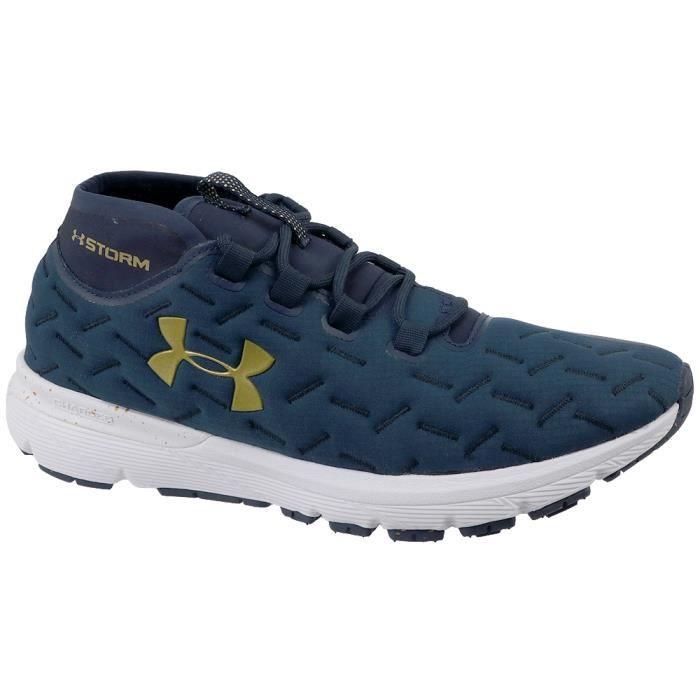 UA Charged Reactor Run 1298534-402 Homme Chaussures de running Bleu foncé
