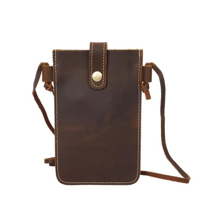 Sac à bandoulière boucle vintage sac à en cuir véritable téléphone mignon messenger mini de PATIN A ROULETTE - PATIN QUAD