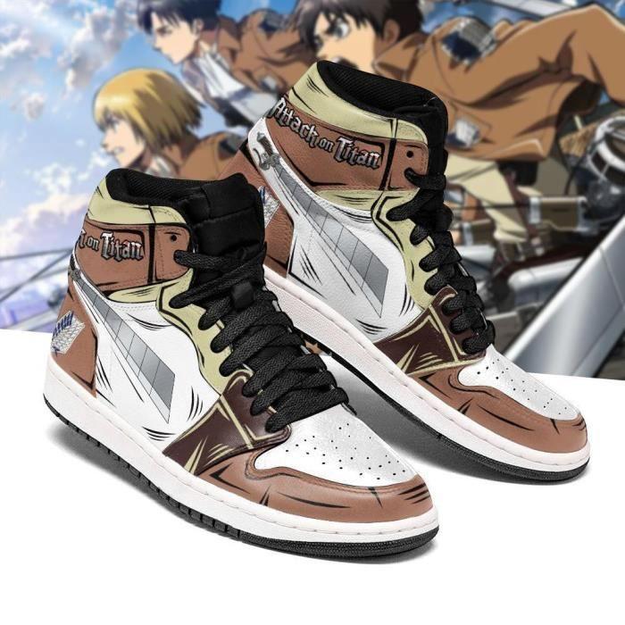 Baskets Anime Attack On Titan Sword AOT Chaussures de course pour Homme Femme