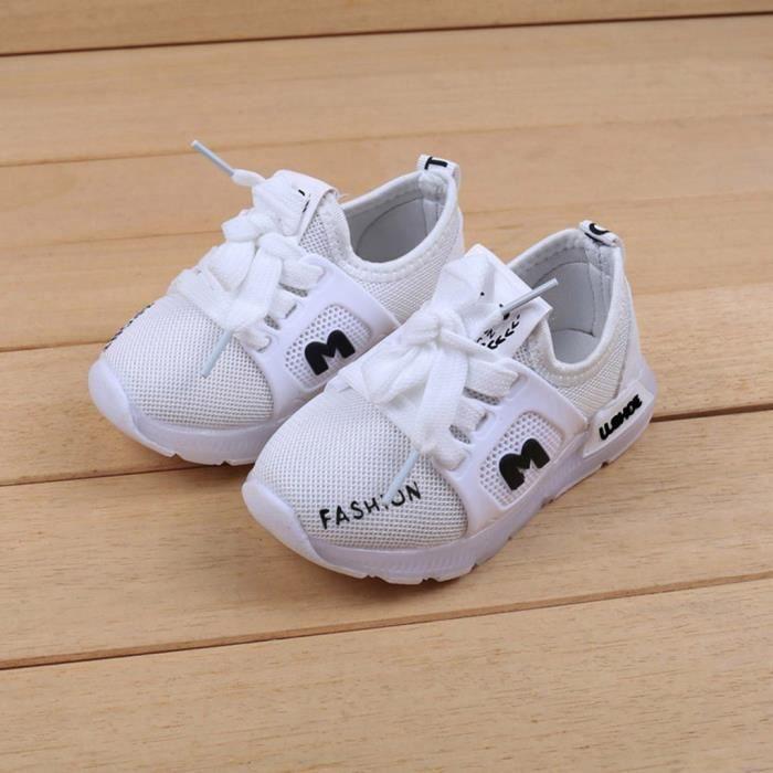 Enfants bébé filles garçons lettre cristal led lumière lumineuse chaussures de sport course NO365