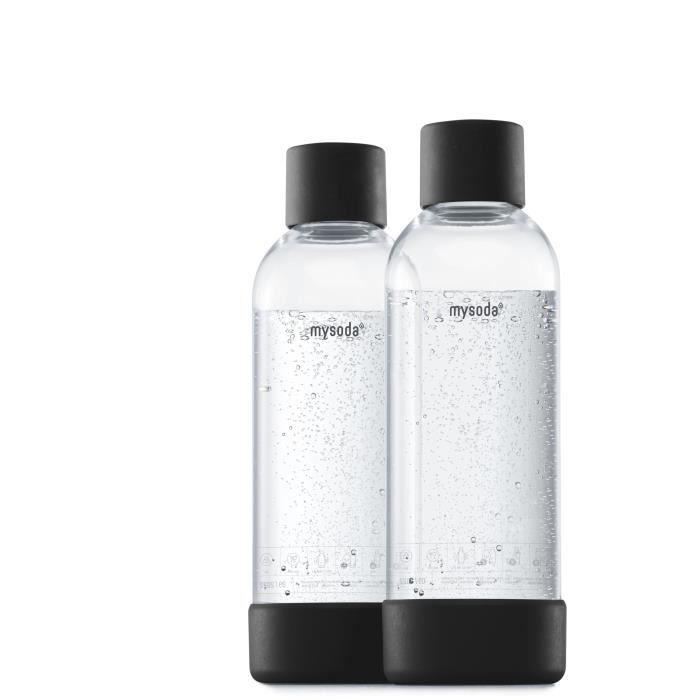 MYSODA - Pack de 2 bouteilles Black PET et Biocomposite 1L