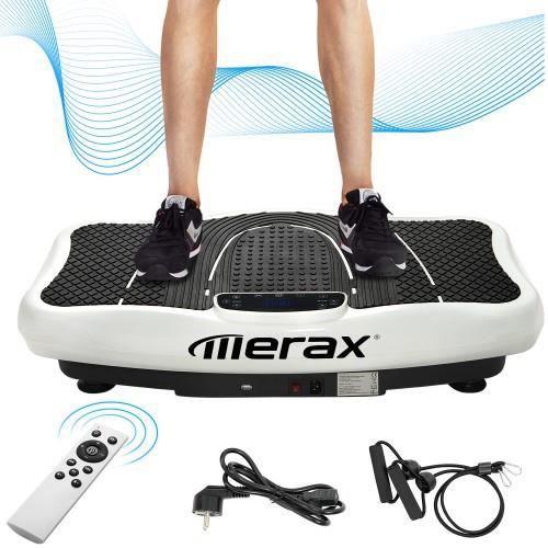Bluetooth Plateforme Vibrante Oscillante pour Fitness, avec écran LCD/Orateur/Télécommande,Idéal pour Fitness&Musculation - BLANC