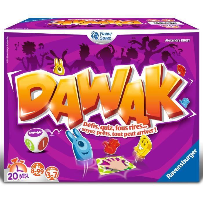 DAWAK Jeu d'ambiance Ravensburger - 3 à 7 joueurs - 8 ans et +