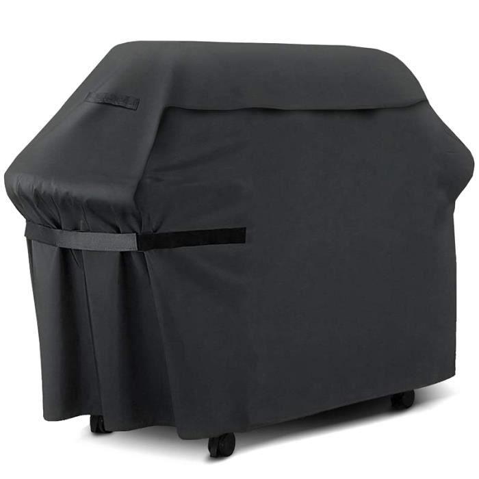 600D Oxford Tissu Pluie Noir Barbecue Barbecue à Gaz Couverture Lourd ÉTanche Barbecue Barbecue à Gaz Grill Couverture ExtéRieur