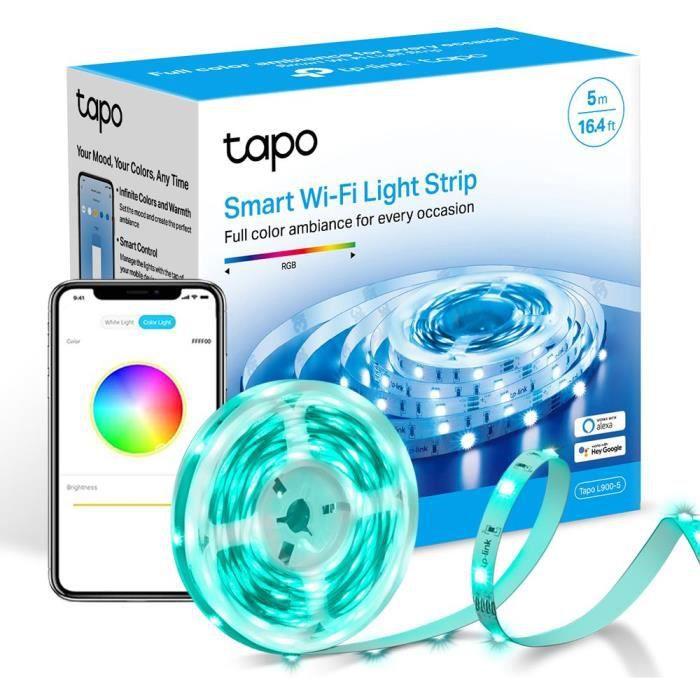 TP-Link Tapo Ruban LED 5M, Bande LED WiFi, RGB 16 millions de couleurs, compatible avec Alexa, Google Home et Siri Tapo L900-5
