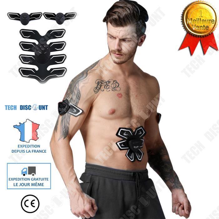 TD® appareil abdominal Stimulateur musculaire homme fessier abdominaux femme douleur ceinture électrique intensité 6 modes corps