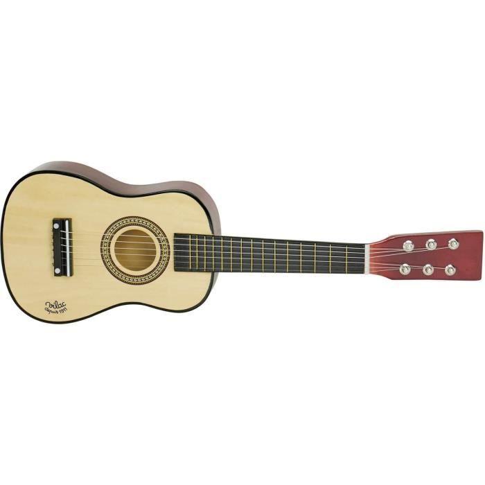 Guitare en bois naturel aille Unique Coloris Unique