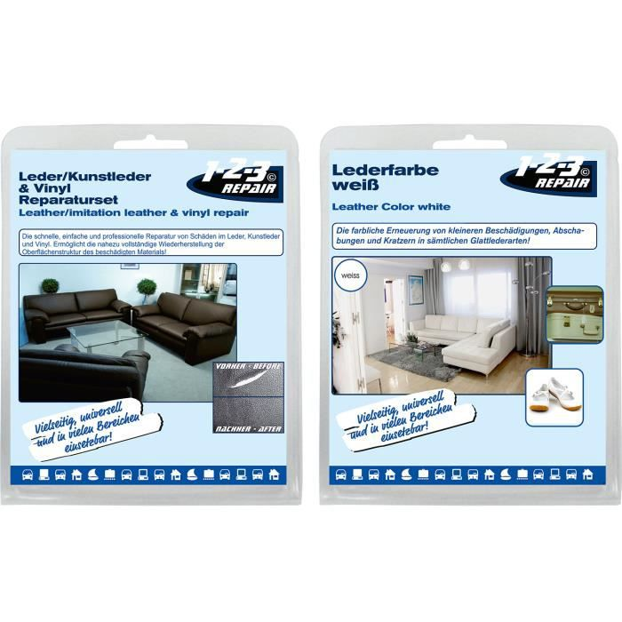 Kit de r paration r novation cuir similicuir vinyle trous - Reparation salon cuir ...