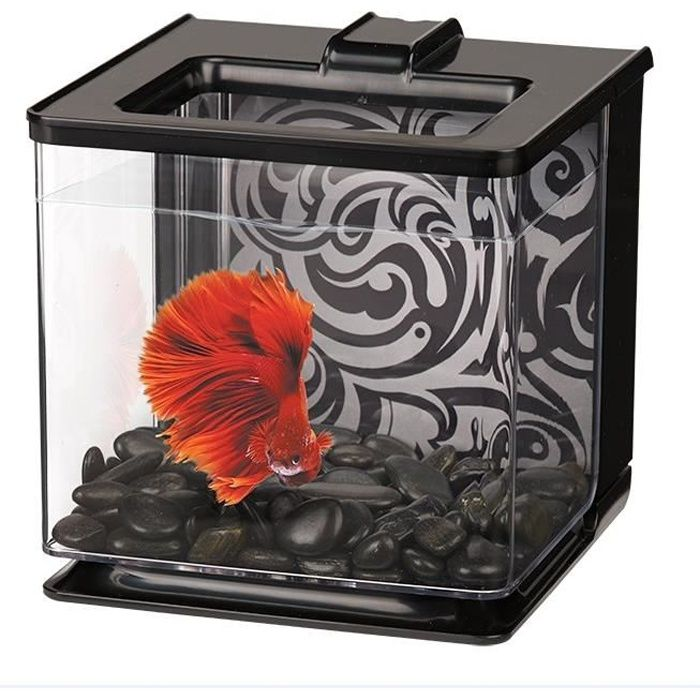 AQUARIUM MARINA Aquarium Ez Care pour betta - 2,5 L - Noir
