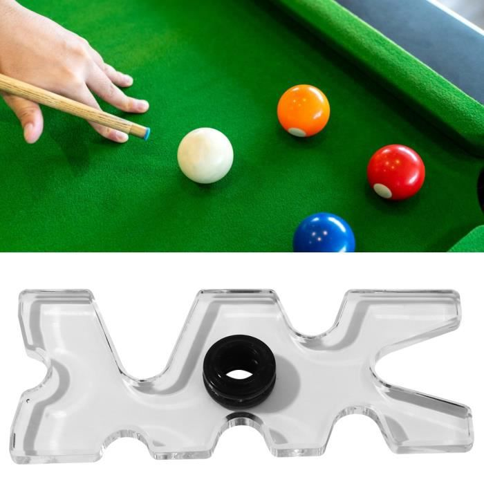 accessoire de support de queue de billard en acrylique transparent pour Nine Ball Club Support de queue de billard