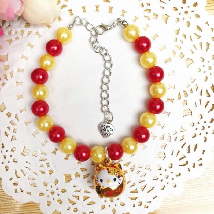 dessin collier perle rouge
