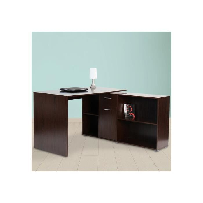 bureau d 39 angle noyer achat vente bureau bureau d 39 angle noyer cdiscount. Black Bedroom Furniture Sets. Home Design Ideas