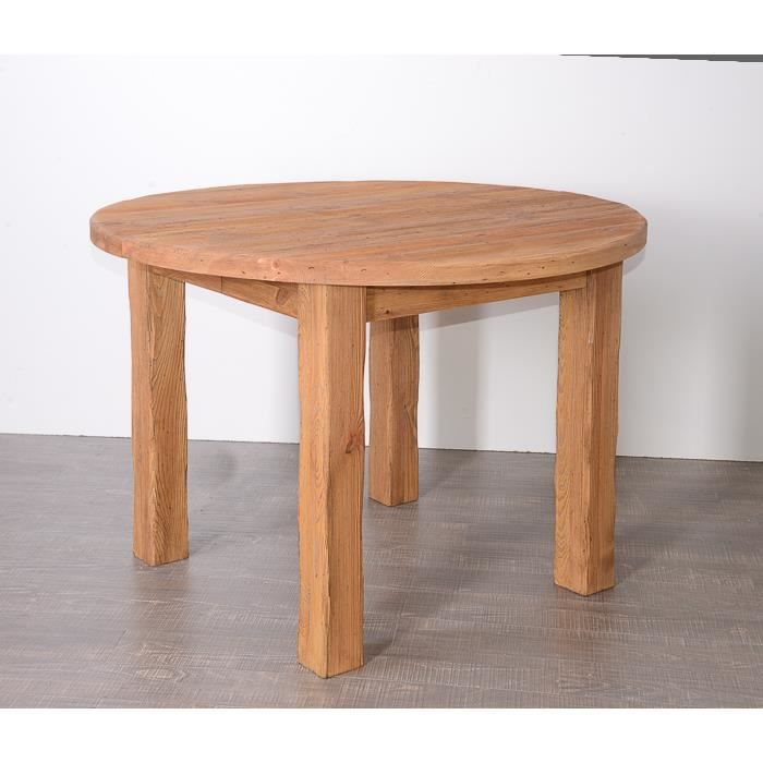 Table ronde en pin massif 39 savoyard 39 achat vente table for Table cuisine pin massif