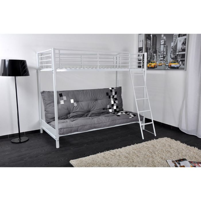 mezzaclic mezzanine 90cm blanc structure clic clac achat. Black Bedroom Furniture Sets. Home Design Ideas
