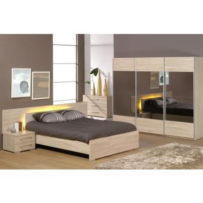 Chambre adulte compl te alicia l 140 x l 200 cm achat for Chambre adult complet