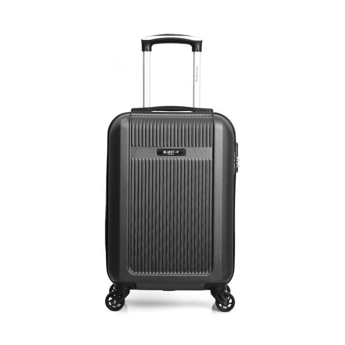VALISE - BAGAGE BLUESTAR - Valise Cabine  Noire - ABS - 4 roues -