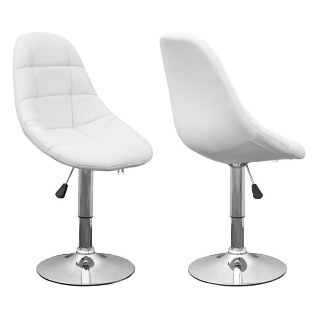 CHAISE CENTURY DESIGN BLANC LOT DE 2