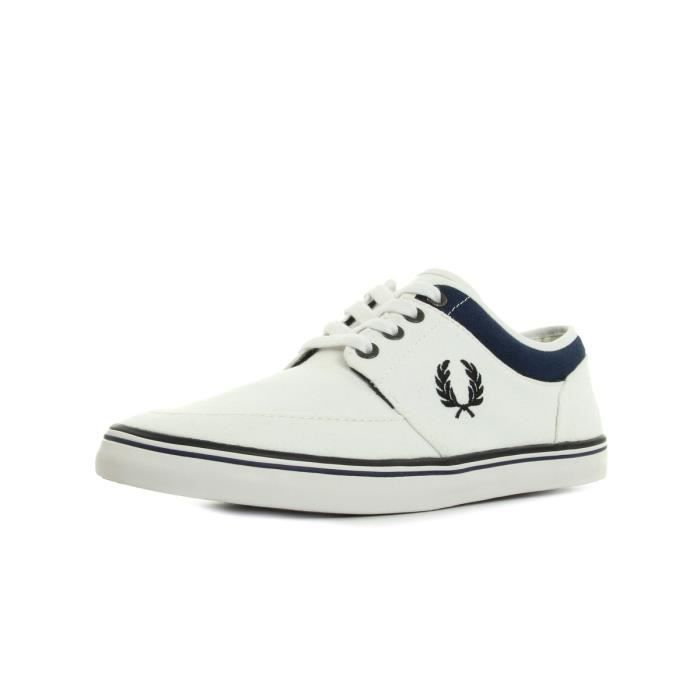 Baskets Fred Perry Stratford Canvas Snow White