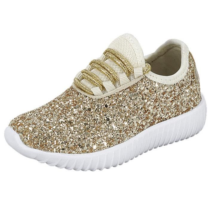 5fcfd74af8f5c9 up Toe Casual Sport N3zr3 Women's 37 Sneaker Closed 2 Encrusted 1 Taille  Fashion Lace Glitter xXTww1q5Y