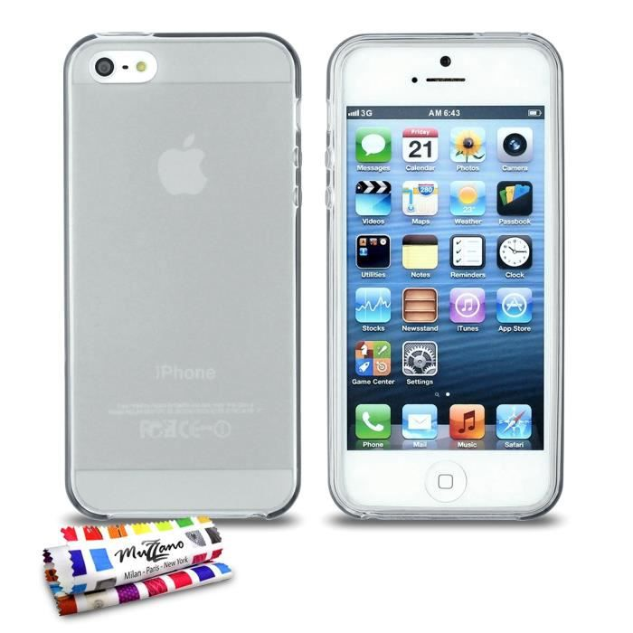 coque glossy hybrid apple iphone 5 gris achat coque. Black Bedroom Furniture Sets. Home Design Ideas