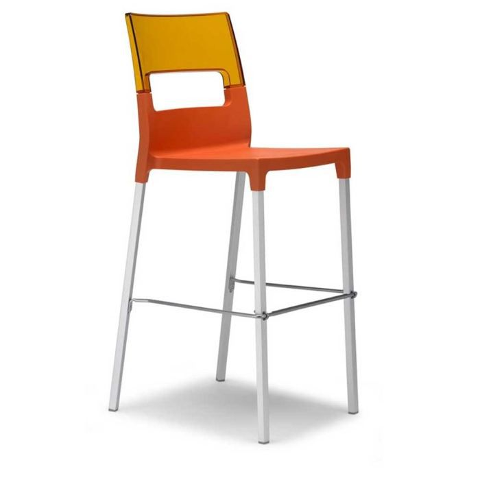 tabouret de bar empilable orange bicolore lot achat vente tabouret de bar polypropylene. Black Bedroom Furniture Sets. Home Design Ideas