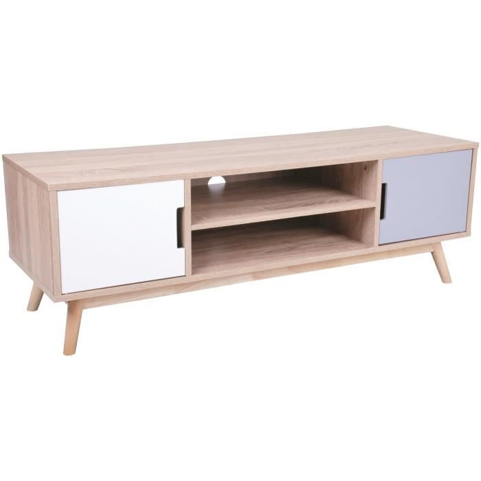 console rangement meuble scandinave banc t l vision deux. Black Bedroom Furniture Sets. Home Design Ideas