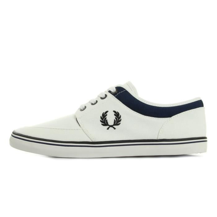 Baskets Fred Perry Stratford Canvas Snow White hLXWFyQS