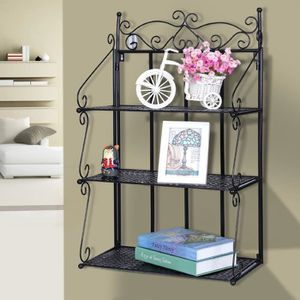 etagere murale fer forge achat vente pas cher. Black Bedroom Furniture Sets. Home Design Ideas