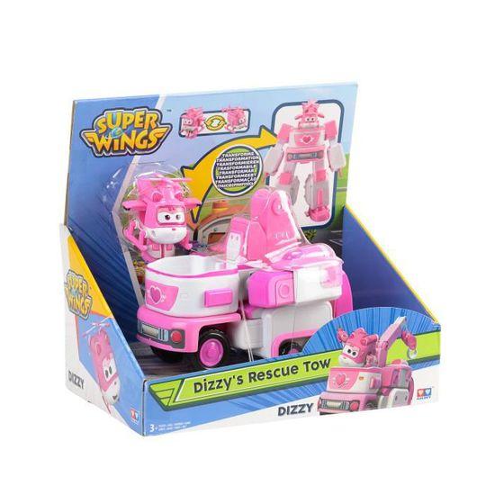 """1 /"""" Auldey  Super Wings Véhicule Transformable en robot 18 cm /""""Donnie/'s Dozer/"""""""