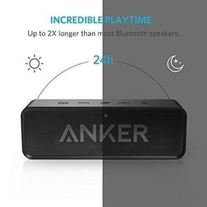 ENCEINTE NOMADE Enceinte noire Portable Bluetooth Stereo avec Batt