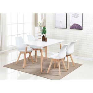 TABLE À MANGER COMPLÈTE Ensemble Salle à Manger Moderne Lorenzo - Table Bl