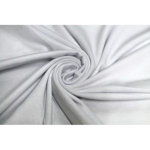 TISSU Tissu Jersey Coton Blanc -Au Mètre