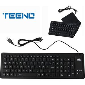 CLAVIER D'ORDINATEUR TEENO Version Française-AZERTY Portable Usb Mini S