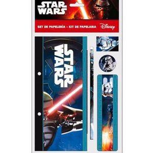 pad Film Star Wars blocs de 4 piece set de papeterie crayon règle Disney