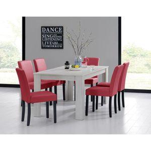 TABLE À MANGER COMPLÈTE en.casa table et jeu de chaises 'Oslo' (blanc - 16
