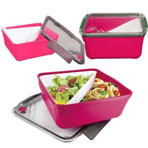lunch box compartiments achat vente lunch box. Black Bedroom Furniture Sets. Home Design Ideas